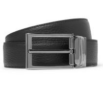 3.5cm Black Reversible Leather Belt