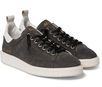 Starter Leather-trimmed Suede Sneakers