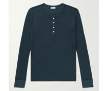 Heinrich Ribbed Cotton-Jersey Henley T-Shirt