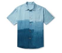 Camp-Collar Dégradé Nep Silk Shirt