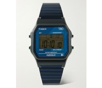 T80 34mm Resin and Stainless Steel Digital Watch