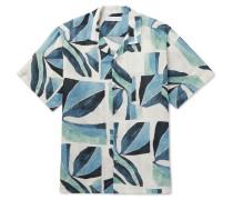 Cuban Printed Linen Pyjama Shirt
