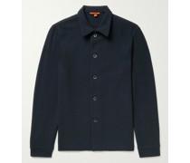 Textured-Knit Overshirt
