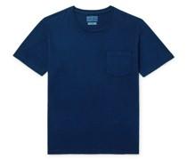 Indigo-Dyed Slub Cotton-Jersey T-Shirt