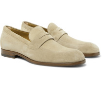 Brighton Suede Penny Loafers