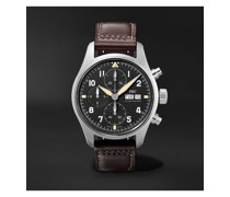 Pilot's Spitfire Automatic Chronograph 41mm Stainless Steel and Leather Watch, Ref. No. IW387903