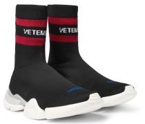 + Reebok Sock Pump Stretch-knit Sneakers