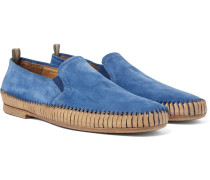 Maurice Shirred Suede Loafers