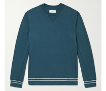 Contrast-Tipped Loopback Cotton-Jersey Sweatshirt