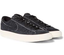 Blazer Distressed Suede Sneakers