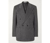 Double-Breasted Camel Suit Jacket