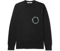 Slim-fit Embroidered Cashmere Sweater