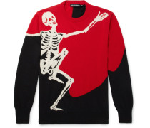 Skeleton-intarsia Wool And Cashmere-blend Sweater