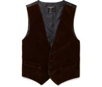 Slim-Fit Cotton-Velvet Waistcoat