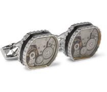 Gear Silver-Tone Cufflinks