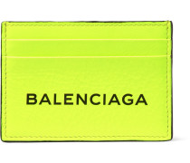 Everyday Printed Textured-leather Cardholder