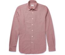 Kurt Slim-fit Puppytooth Cotton Shirt
