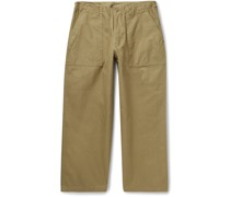 Cropped Cotton-Twill Trousers