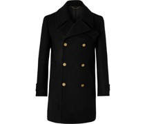 Double-Breasted Wool and Cashmere-Blend Peacoat