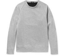 Brence Contrast-trimmed Mélange Bonded Jersey Sweatshirt