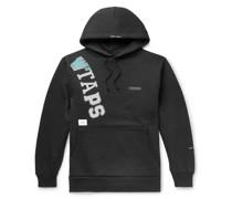 Katz Logo-Appliquéd Printed Fleece-Back Cotton-Blend Jersey Hoodie