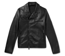 Slim-fit Leather Blouson Jacket