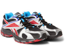 Spike Runner 2 Faux Leather, Mesh and Rubber Sneakers