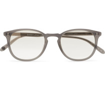 Kinney 49 Round-frame Matte-acetate Mirrored Sunglasses