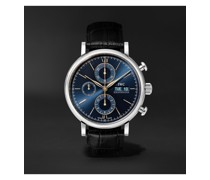 Portofino Automatic Chronograph 42mm Stainless Steel and Alligator Watch, Ref. No. IW391036