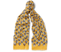 Printed Cotton, Modal And Cashmere-blend Scarf