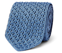 6cm Reversible Knitted Silk Tie
