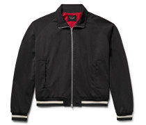 Stripe-trimmed Jersey Track Jacket