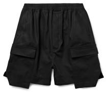 Layered Cotton-canvas Cargo Shorts