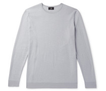 Textured Mulberry Silk, Cotton and Linen-Blend Sweater