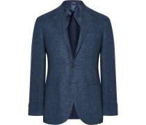 Blue Morgan Linen-twill Blazer