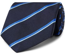 8.5cm Striped Mulberry Silk-Twill Tie