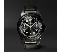 Summit 46mm Pvd-coated Stainless Steel And Leather Smartwatch