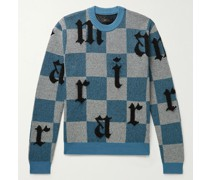 Slim-Fit Intarsia Cashmere and Mohair-Blend Sweater