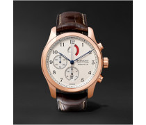 America's Cup Regatta Chronograph 43mm Rose Gold And Alligator Watch