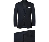 Blue Hudson Slim-fit Stretch-cotton Suit