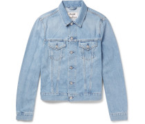 Who Slim-fit Washed-denim Jacket