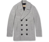 London Mélange Wool And Cashmere-blend Peacoat