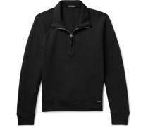 Garment-Dyed Cotton-Jersey Half-Zip Sweatshirt