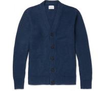 Tuck-stitch Linen Cardigan