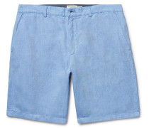 Maddox Linen And Cotton-blend Oxford Shorts