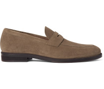 Citey Walk Suede Penny Loafers
