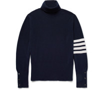 Striped Cashmere Rollneck Sweater