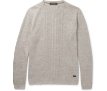 Slim-fit Cable-knit Linen And Silk-blend Sweater