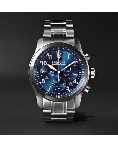 Alt1-p2 Bl/br Automatic Chronograph 43mm Stainless Steel Watch - Blue