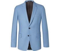 Light-blue Soho Travel Slim-fit Wool-twill Suit Jacket